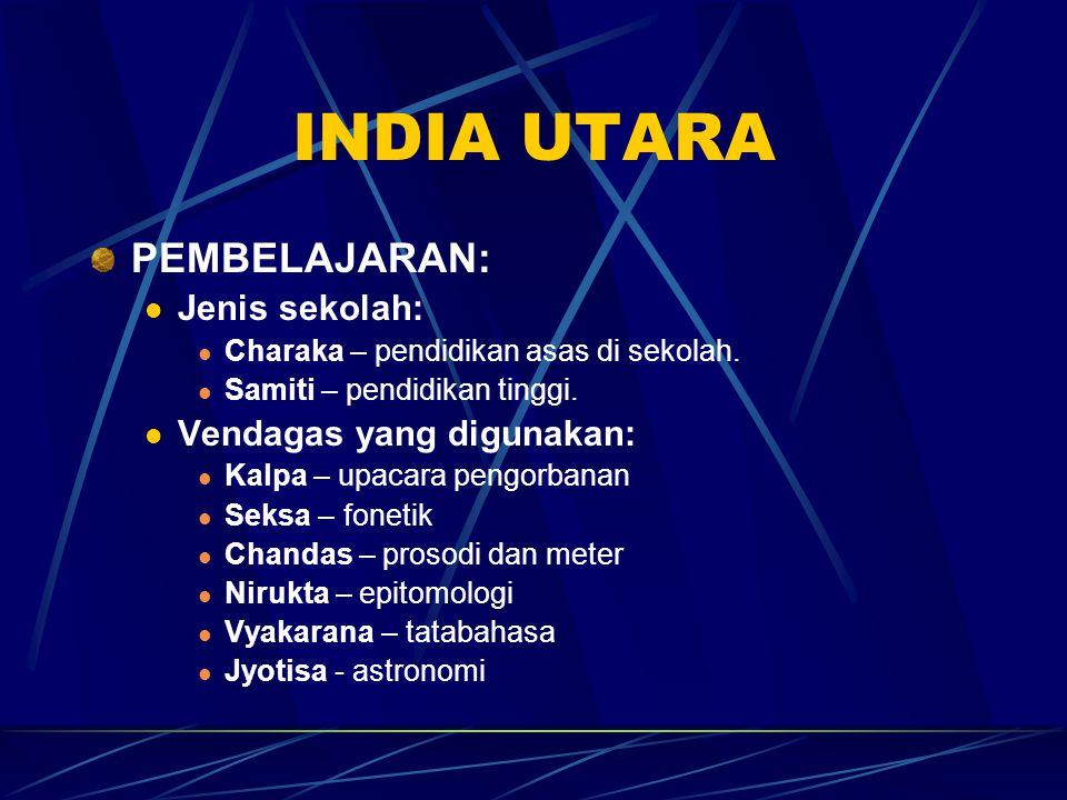 INDIA UTARA PEMBELAJARAN: Jenis sekolah: Vendagas yang digunakan: