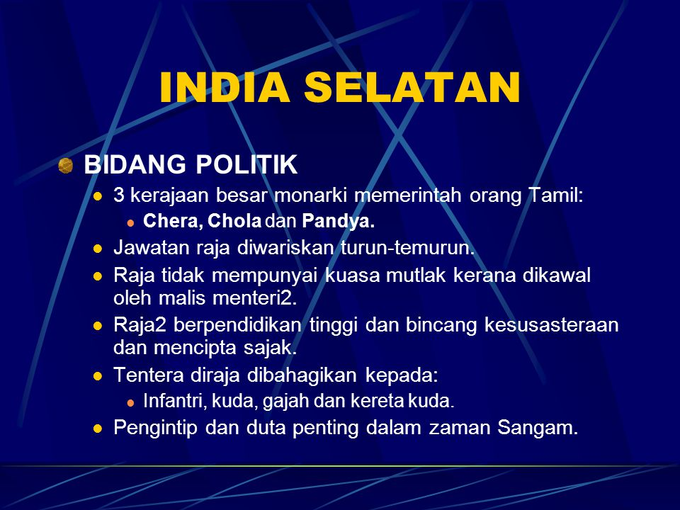 INDIA SELATAN BIDANG POLITIK