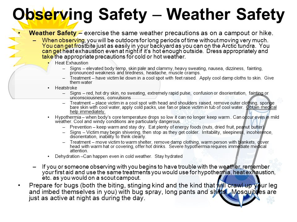 Observing Safety – Weather Safety
