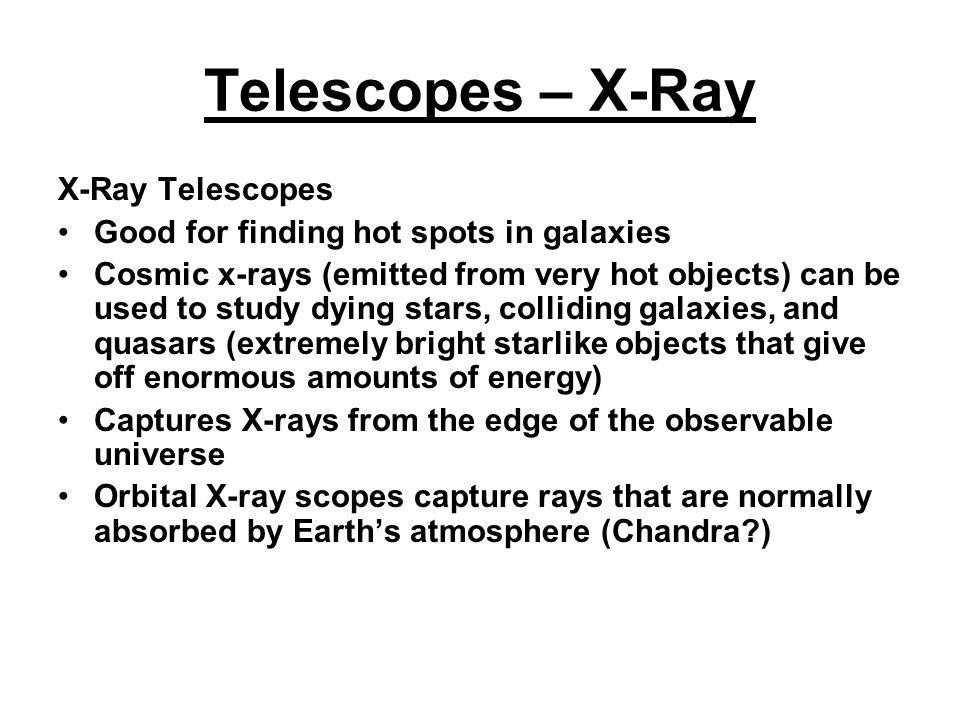 Telescopes – X-Ray X-Ray Telescopes