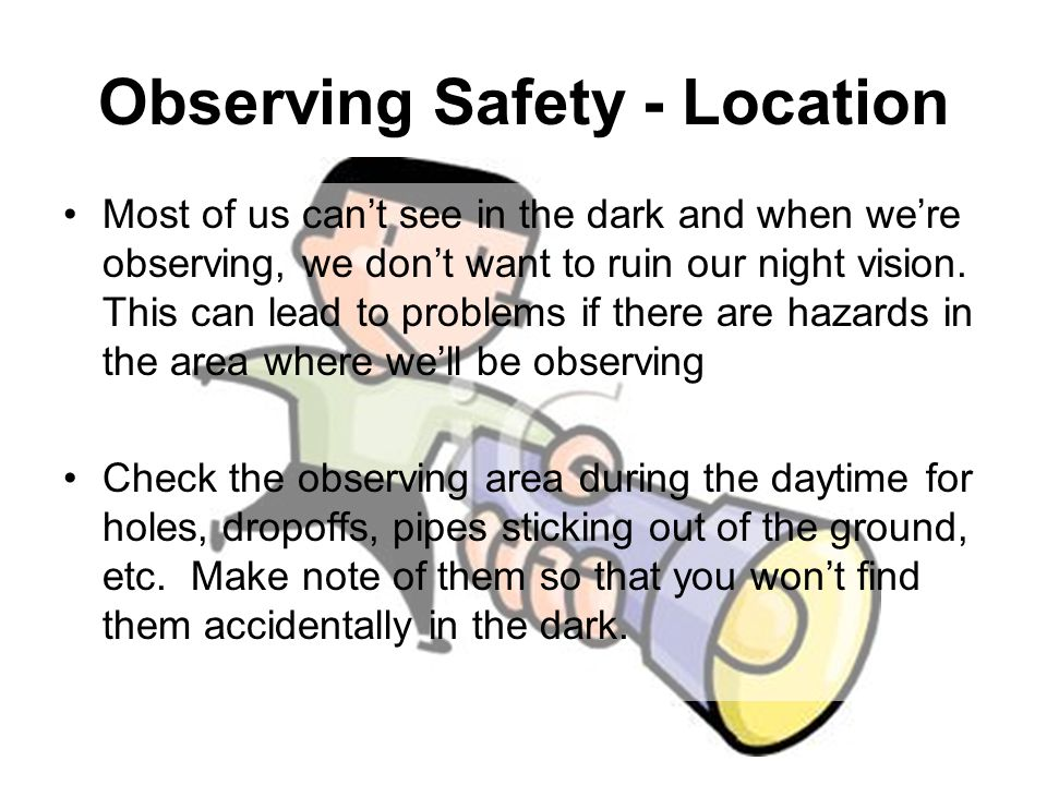 Observing Safety - Location