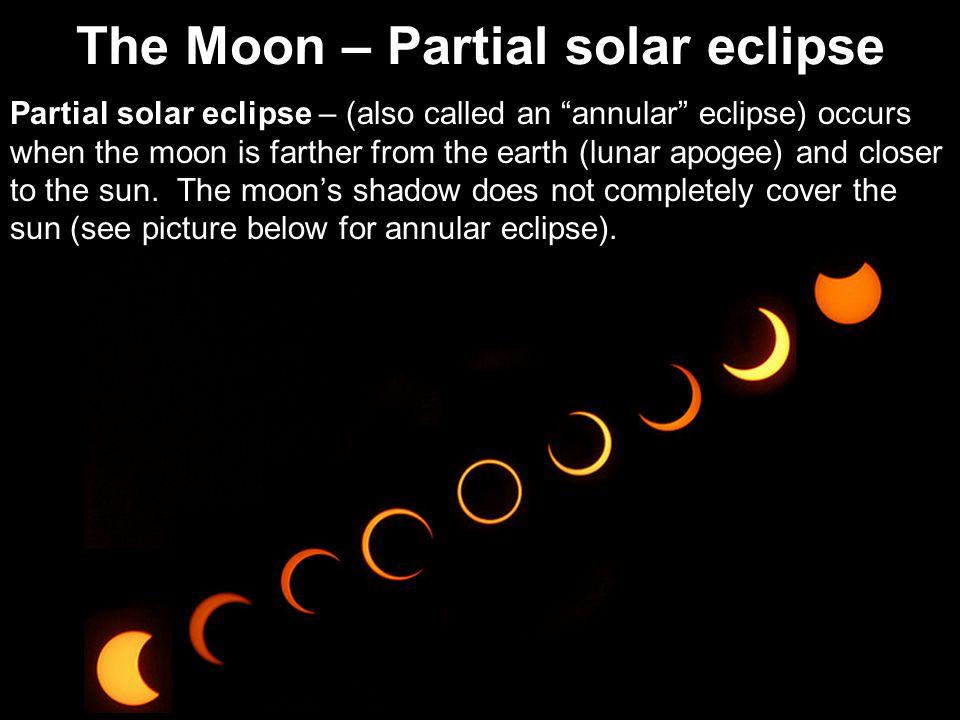 The Moon – Partial solar eclipse