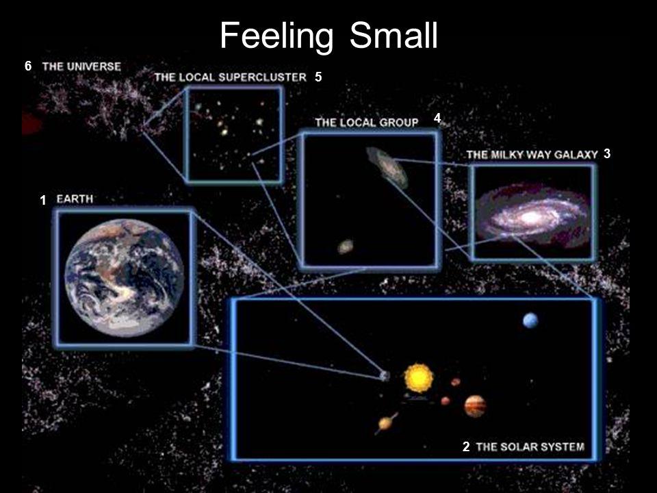Feeling Small 6 5 4 3 1 2