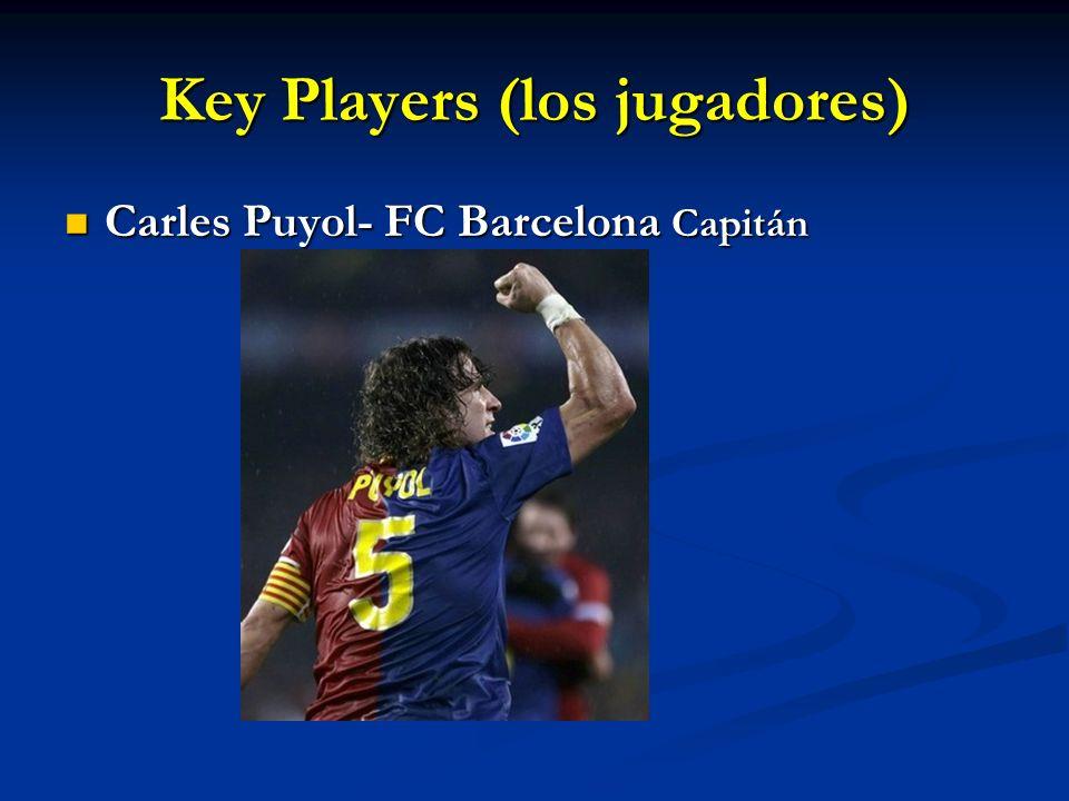 Key Players (los jugadores)