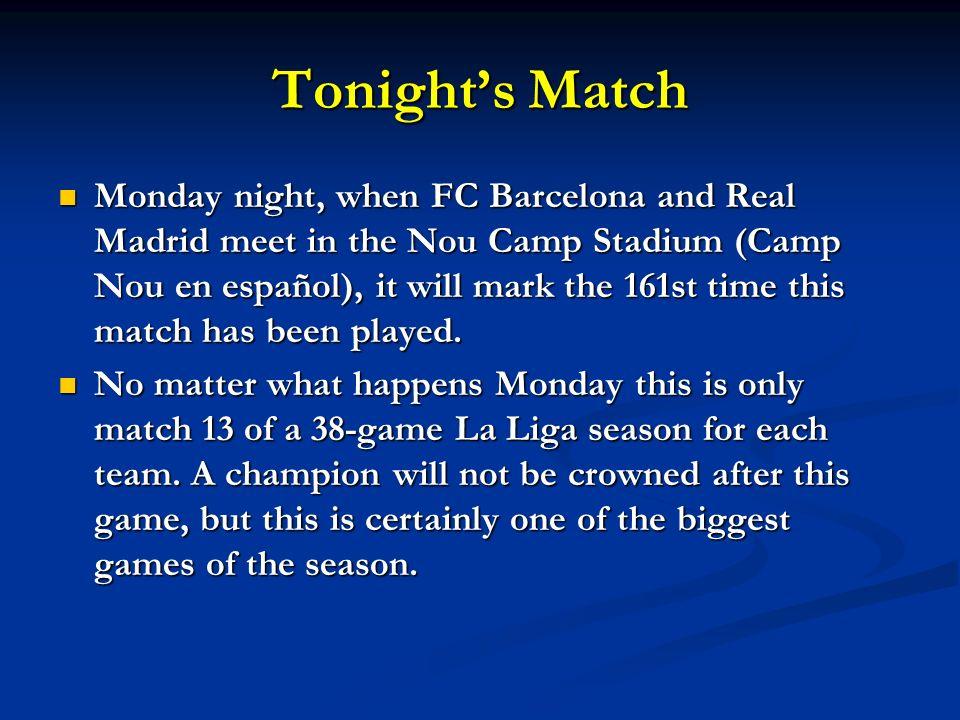 Tonight's Match