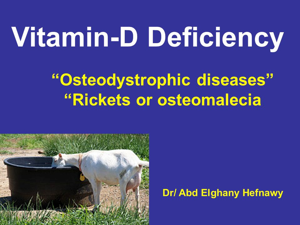 Osteodystrophic diseases Rickets or osteomalecia