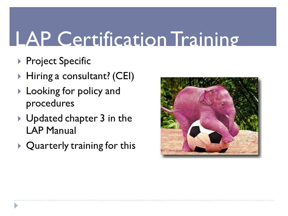 LAP Certification Training
