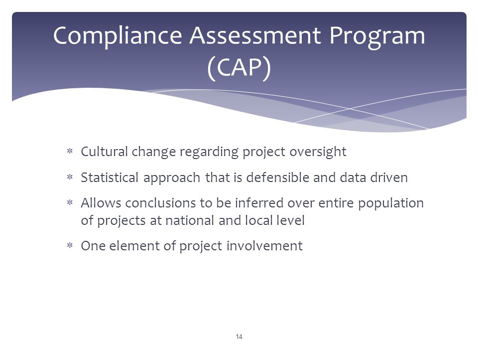 Compliance Assessment Program (CAP)