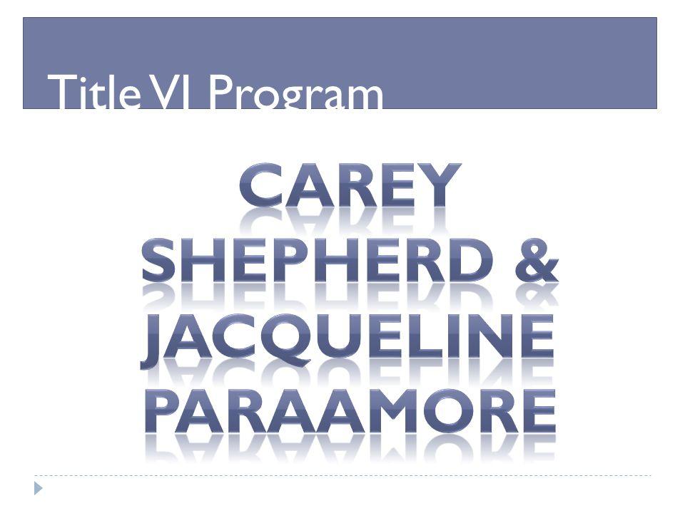 Carey Shepherd & Jacqueline Paraamore