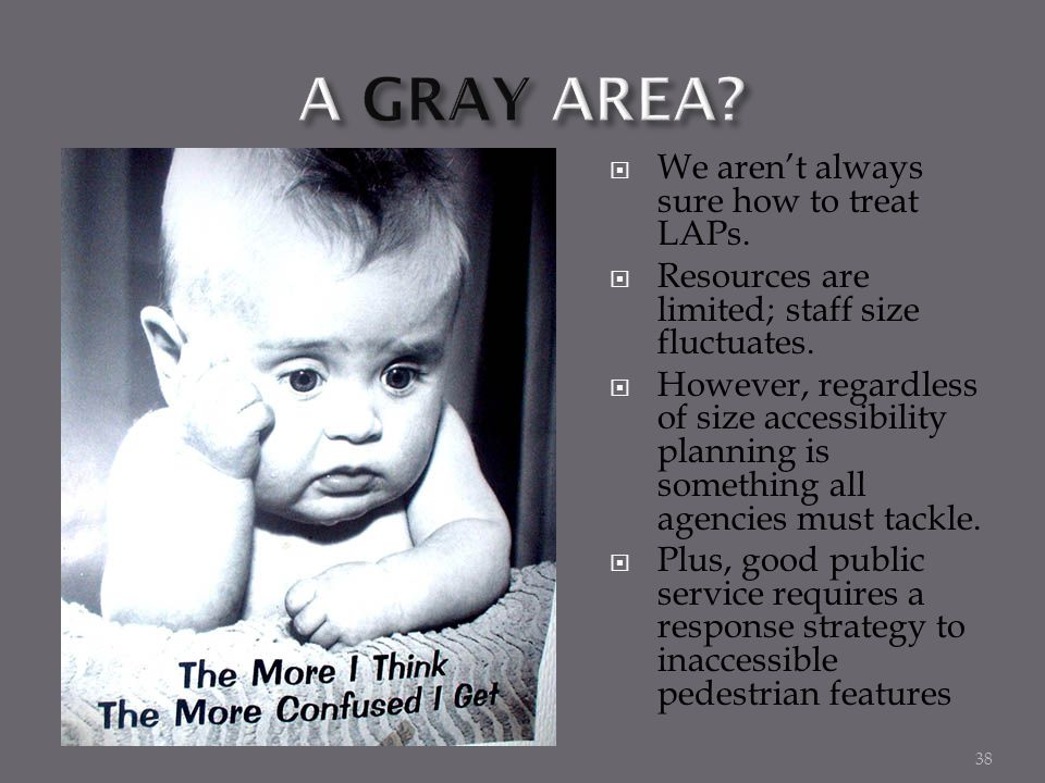 A GRAY AREA We aren't always sure how to treat LAPs.