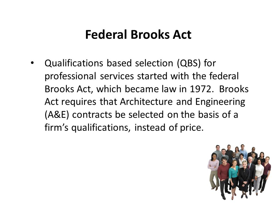 Federal Brooks Act
