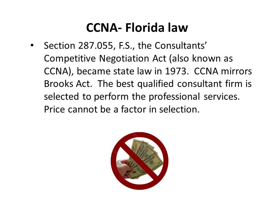 CCNA- Florida law