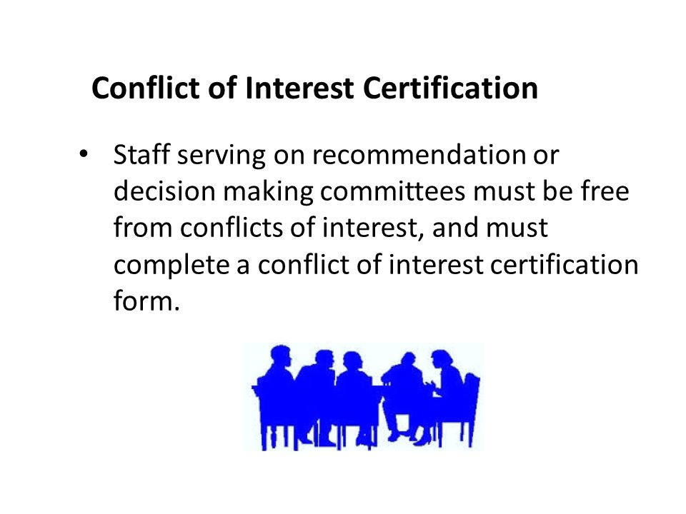 Conflict of Interest Certification