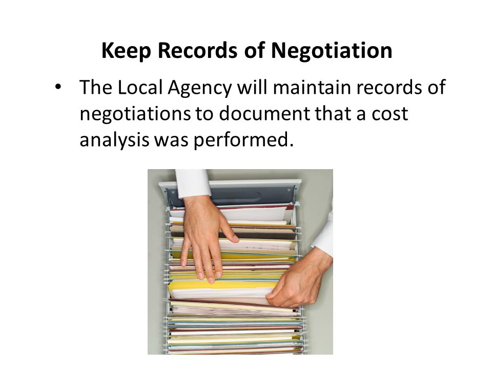 Keep Records of Negotiation