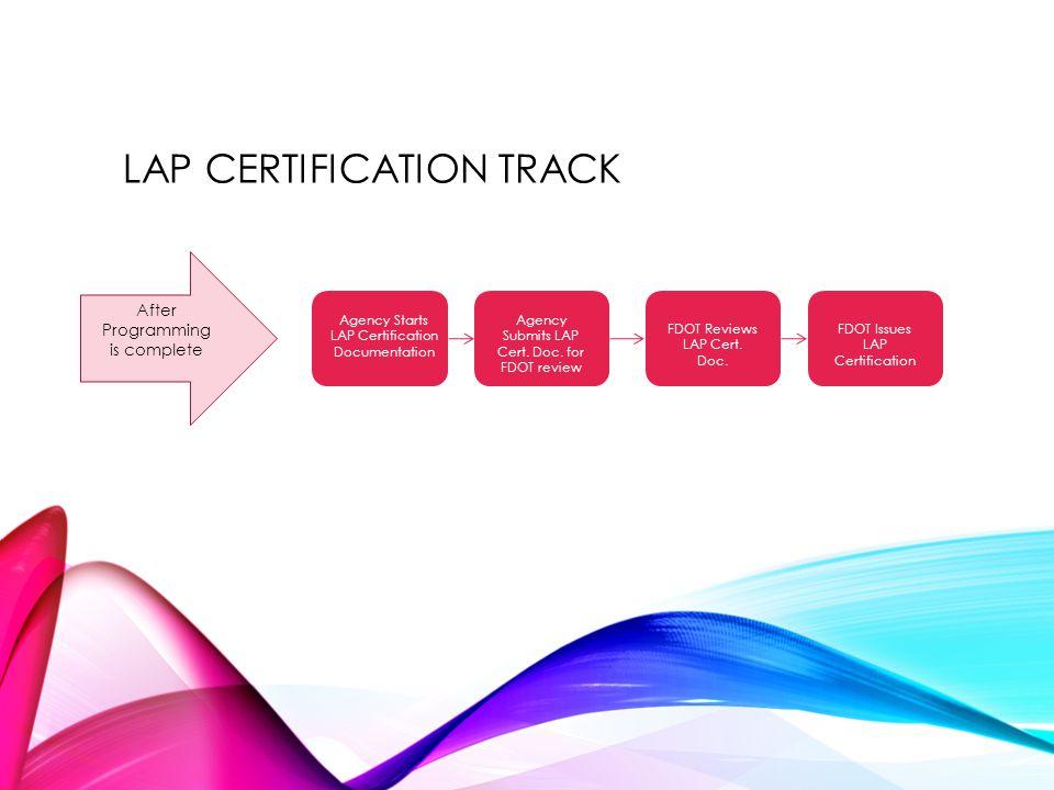 LAP Certification track