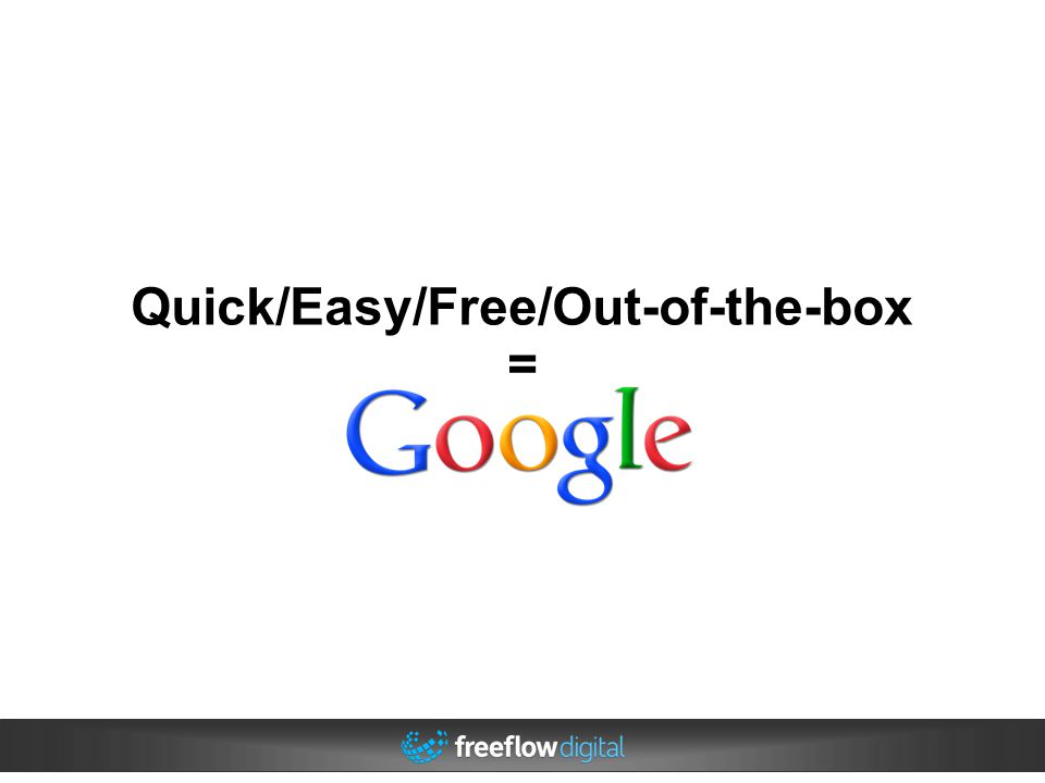 Quick/Easy/Free/Out-of-the-box