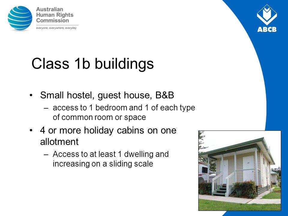 Class 1b buildings Small hostel, guest house, B&B