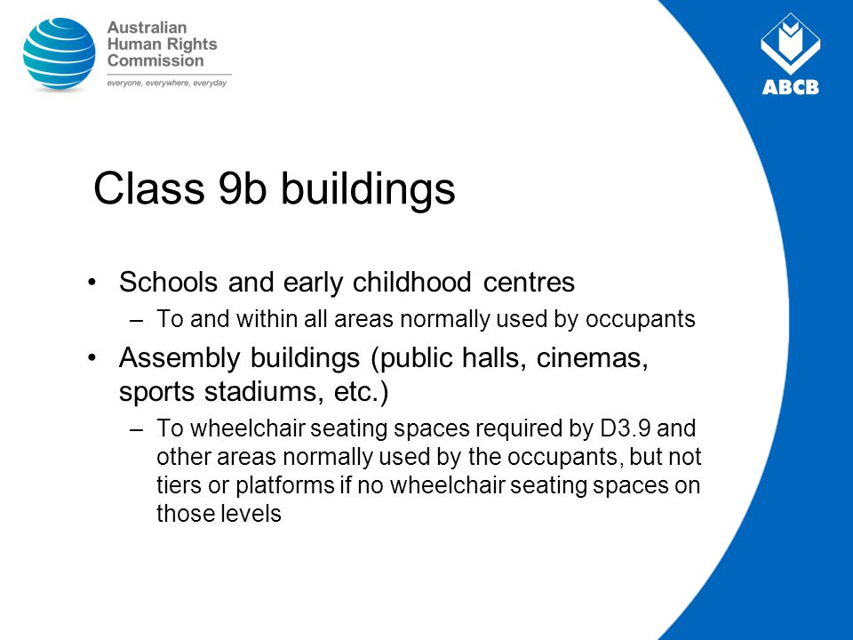 Class 9b buildings Schools and early childhood centres