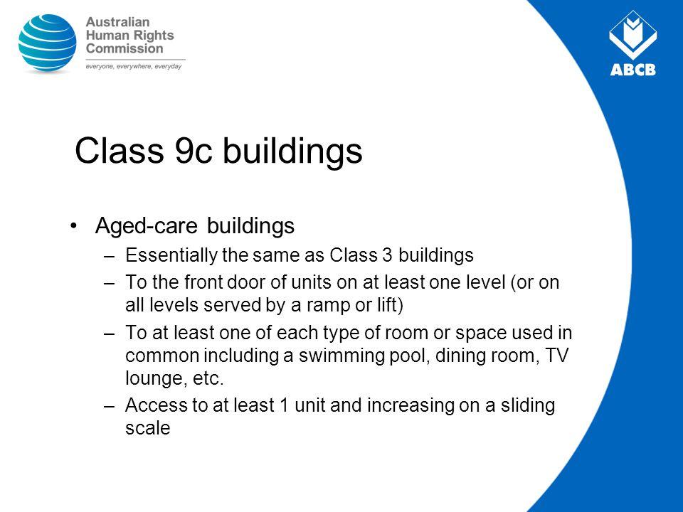 Class 9c buildings Aged-care buildings