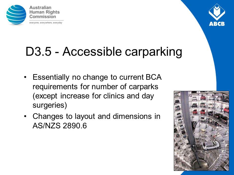 D3.5 - Accessible carparking