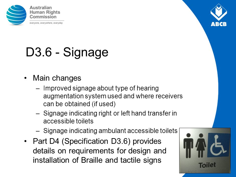 D3.6 - Signage Main changes