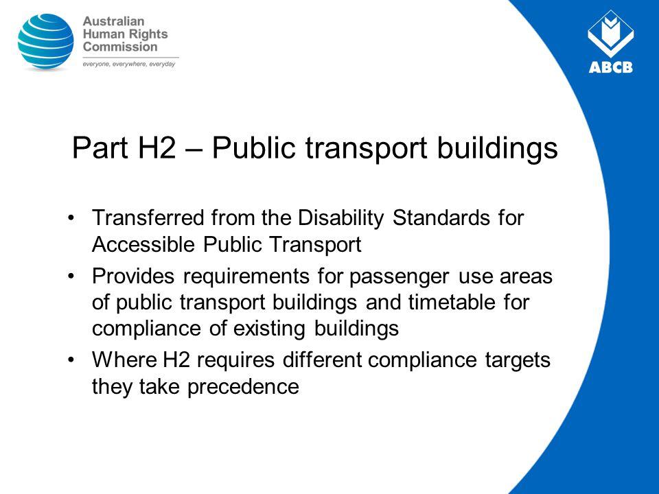 Part H2 – Public transport buildings