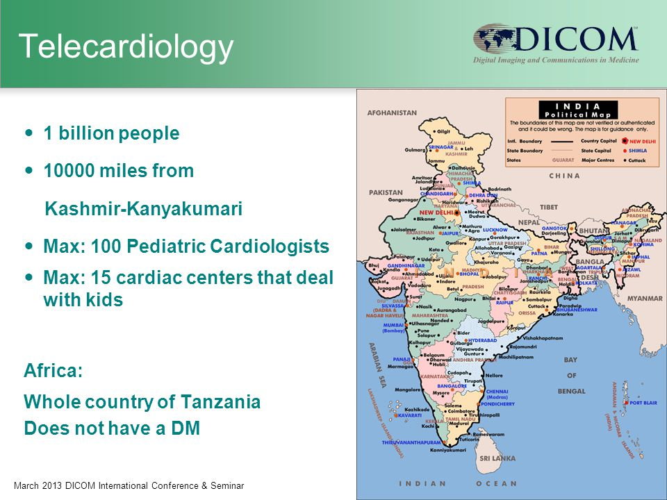 Telecardiology 1 billion people 10000 miles from Kashmir-Kanyakumari