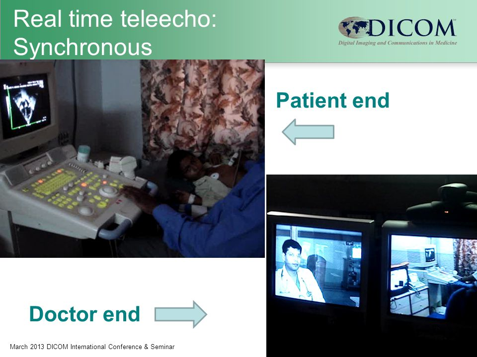 Real time teleecho: Synchronous