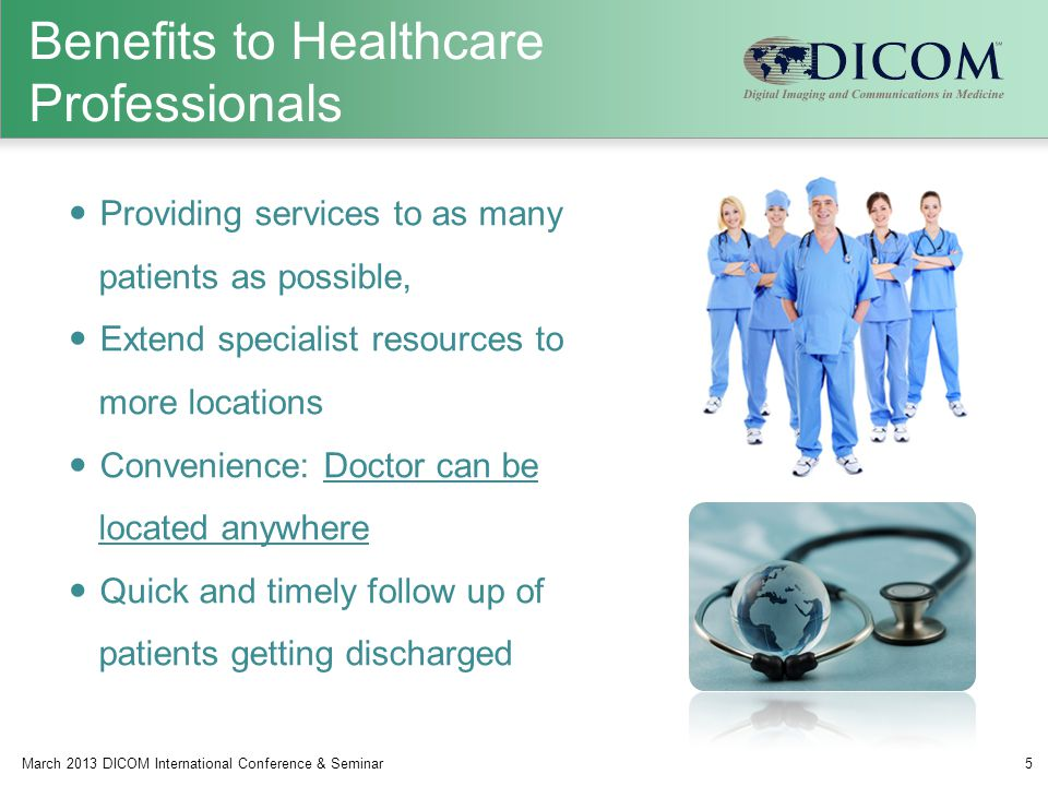 Benefits to Healthcare Professionals