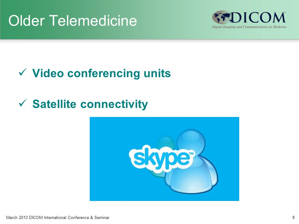 Older Telemedicine Video conferencing units Satellite connectivity