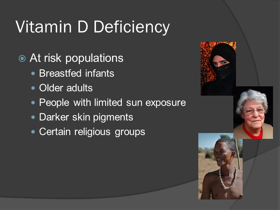 Vitamin D Deficiency At risk populations Breastfed infants
