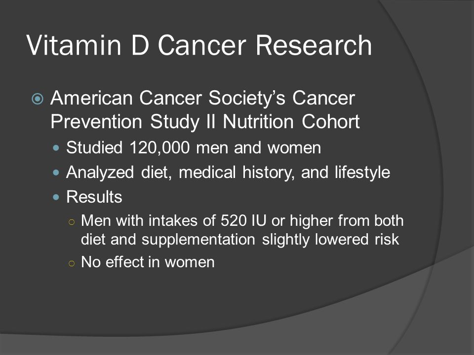Vitamin D Cancer Research