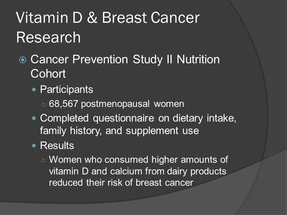 Vitamin D & Breast Cancer Research