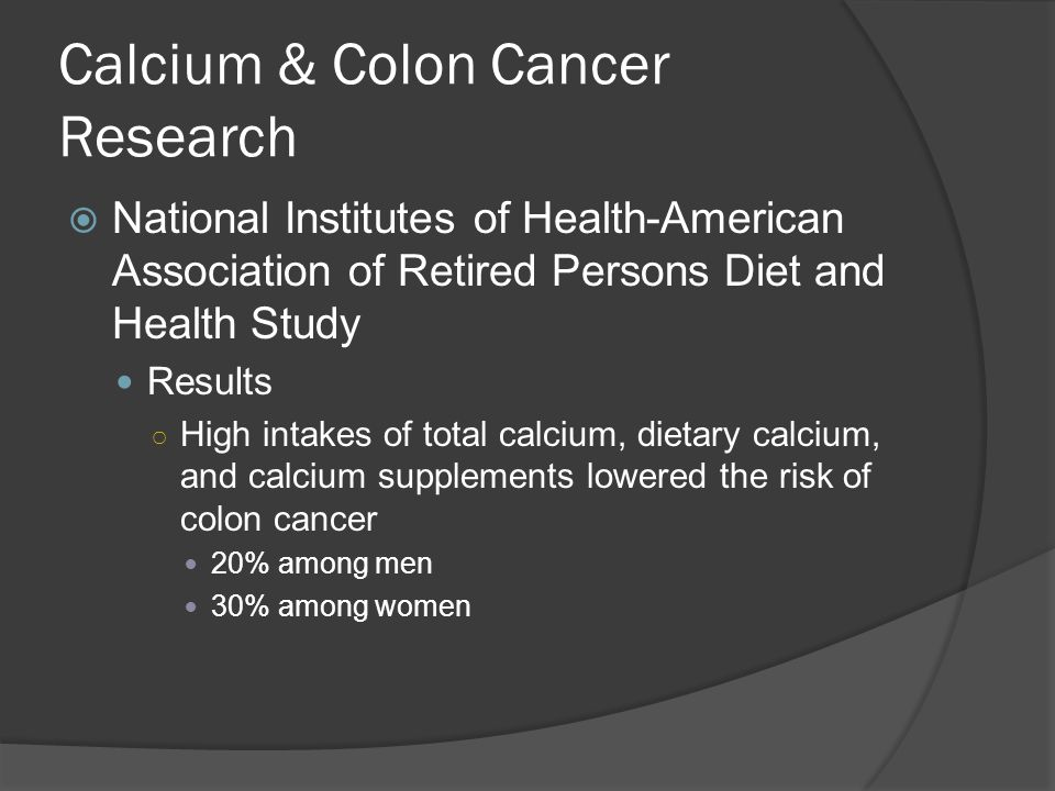 Calcium & Colon Cancer Research