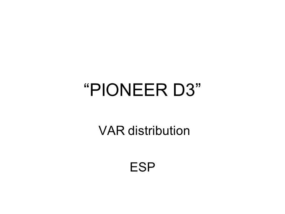 PIONEER D3 VAR distribution ESP
