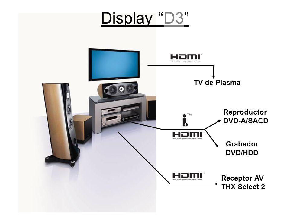 Display D3 TV de Plasma Reproductor DVD-A/SACD Grabador DVD/HDD