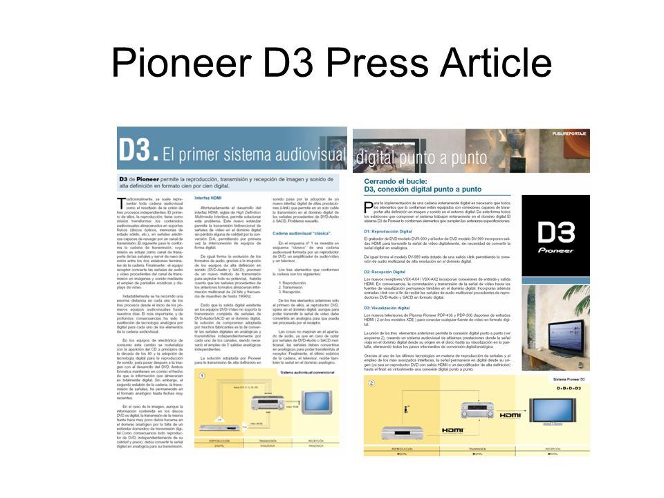 Pioneer D3 Press Article