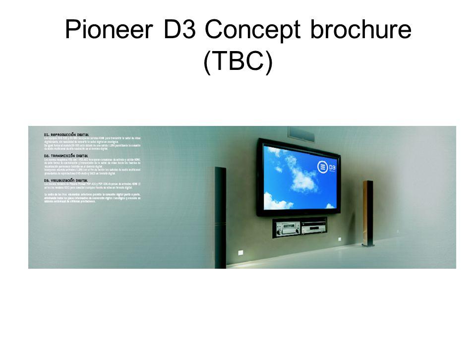 Pioneer D3 Concept brochure (TBC)