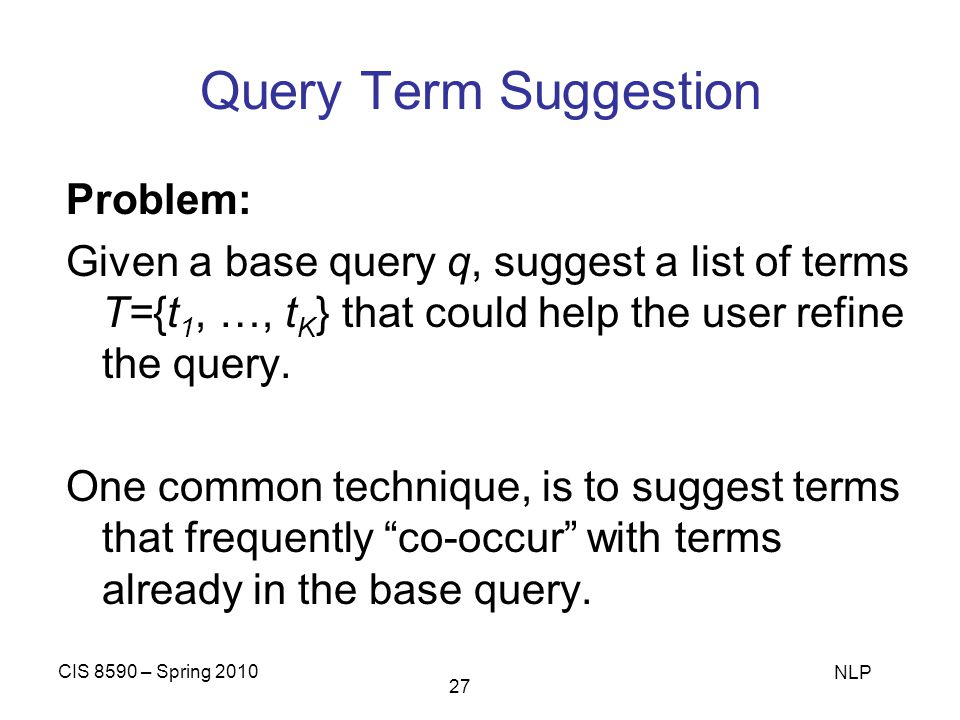 Query Term Suggestion