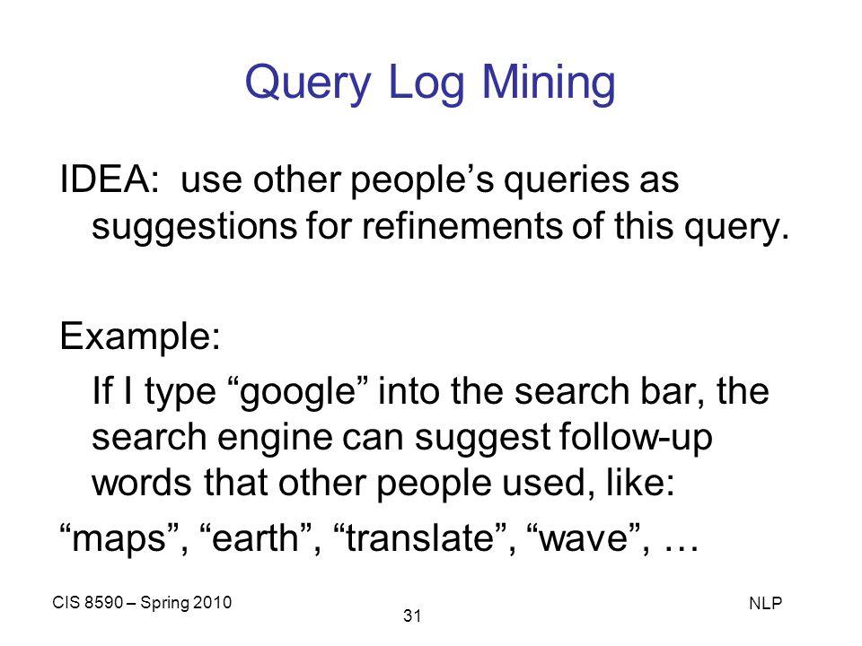 Query Log Mining