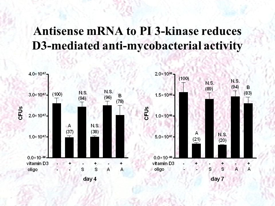 Antisense mRNA to PI 3-kinase reduces D3-mediated anti-mycobacterial activity