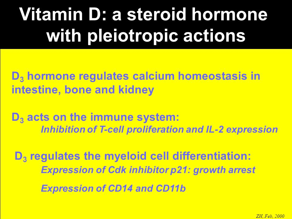 Vitamin D: a steroid hormone with pleiotropic actions