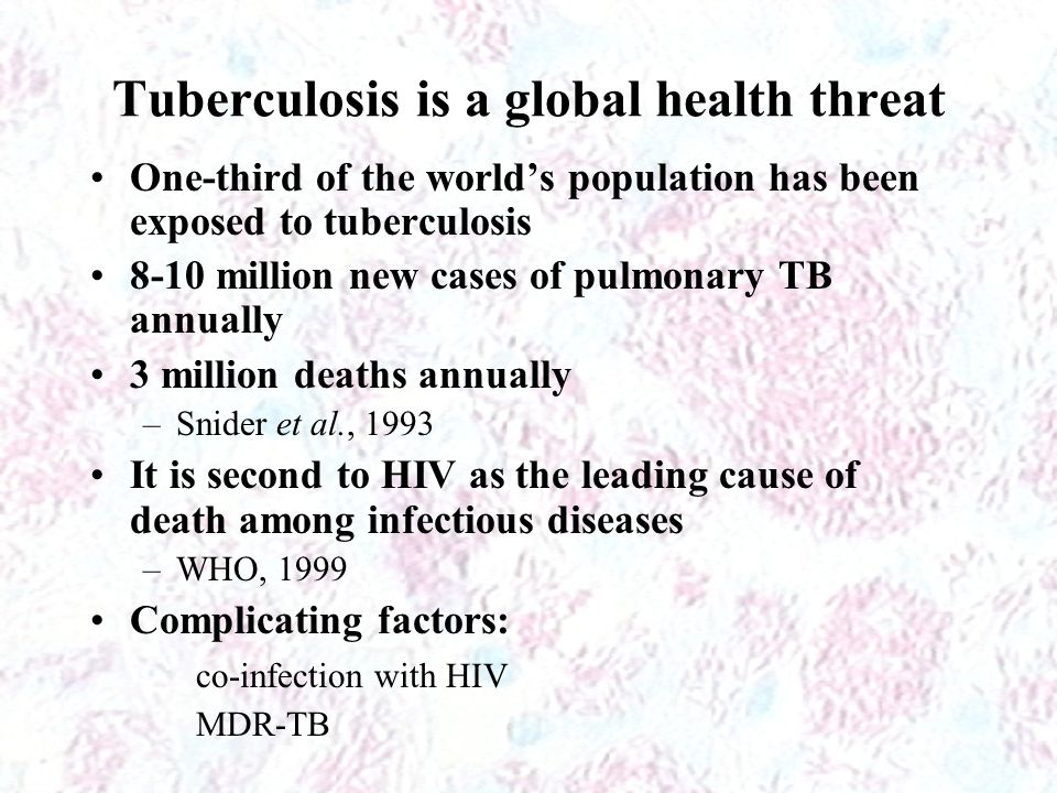 Tuberculosis is a global health threat