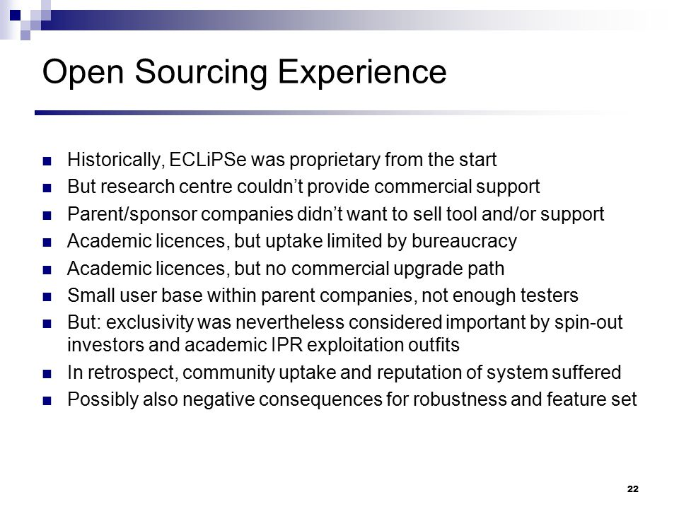 Open Sourcing Experience