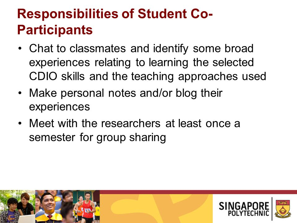 Responsibilities of Student Co-Participants
