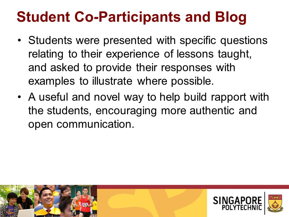Student Co-Participants and Blog