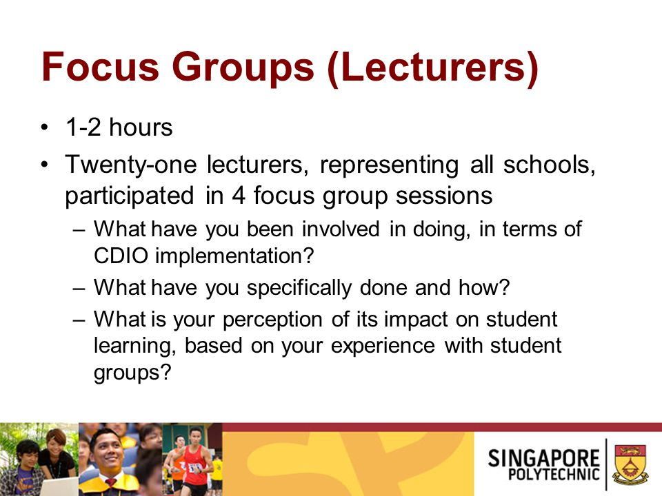 Focus Groups (Lecturers)