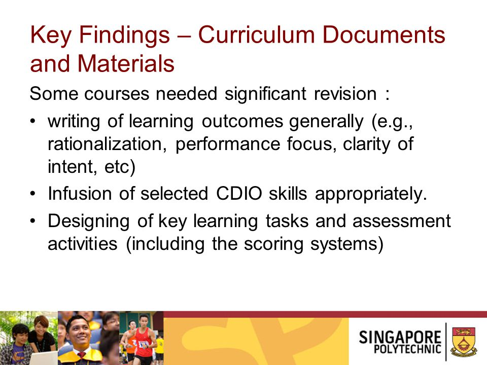 Key Findings – Curriculum Documents and Materials