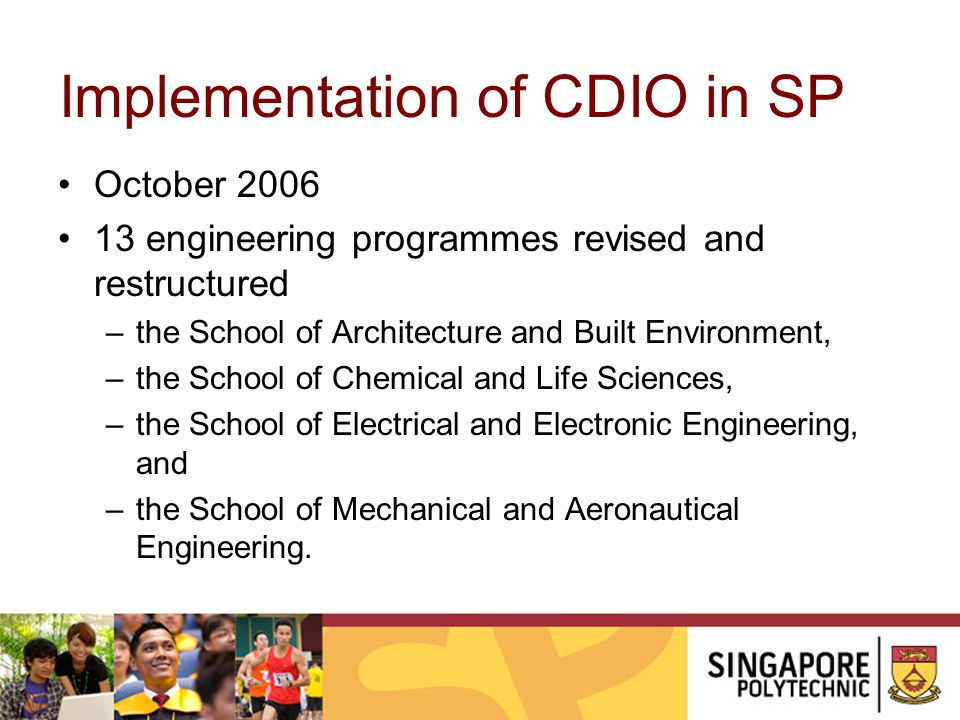 Implementation of CDIO in SP