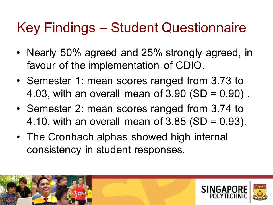 Key Findings – Student Questionnaire